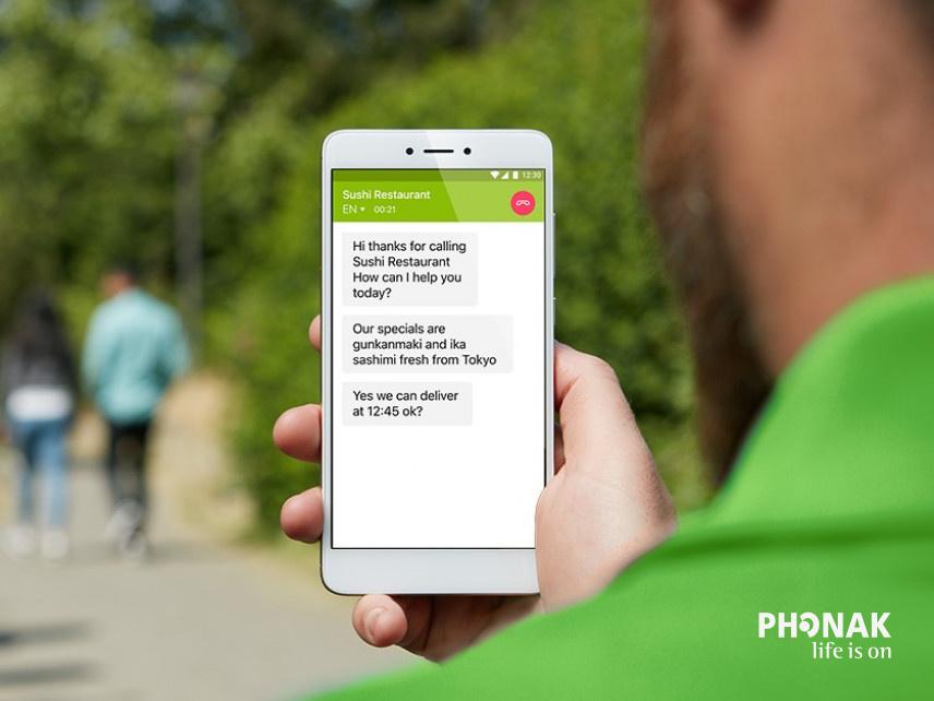 """Mi az a Phonak """"myCall-to-Text"""" alkalmazás?"""